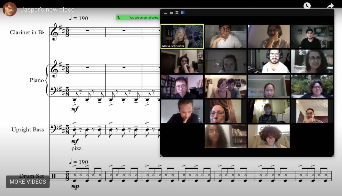 MARIA SCHNEIDER masterclass via zoom